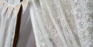 Saquinhos de chás podem servir para tingir cortinas de renda