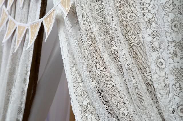 Imagem de cortina de renda