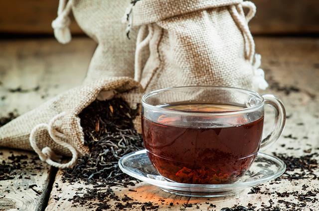 O chá preto é um dos chás para emagrecer rápido