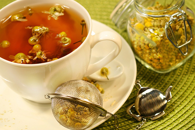 O chá de camomila trata os sintomas da catapora