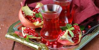 Chá de romã para garganta