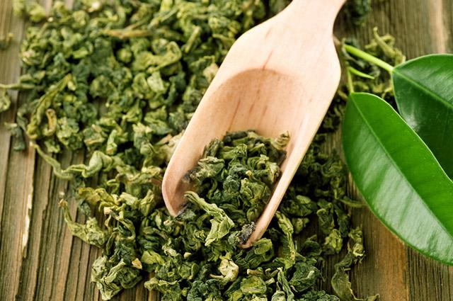 Erva de chá verde