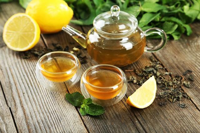 Té verde y limón