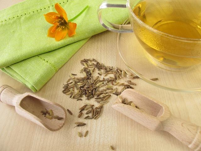 Chá de sementes de erva-doce