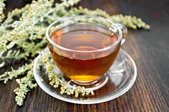 Chá e flores de artemísia